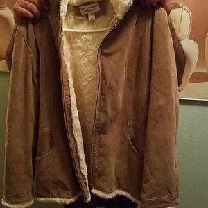 Ladies heavy suede jacket size large